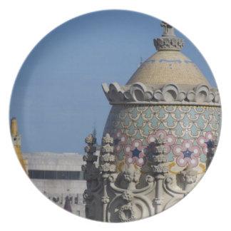 Spain, Catalonia, Barcelona. Barcelona roof top Dinner Plate