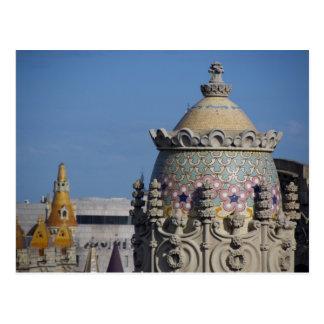 Spain, Catalonia, Barcelona. Barcelona roof top Postcard