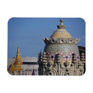 Spain, Catalonia, Barcelona. Barcelona roof top Rectangular Magnets