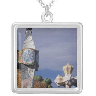 Spain, Catalonia, Barcelona. Casa Batllo (1906). 3 Silver Plated Necklace