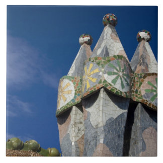 Spain, Catalonia, Barcelona. Casa Batllo (1906). Ceramic Tile