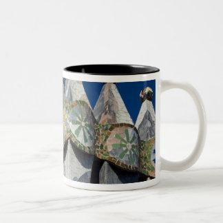 Spain, Catalonia, Barcelona. Casa Batllo (1906). Two-Tone Coffee Mug