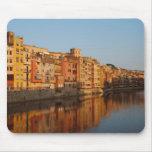 Spain. Catalonia. Gerona. Houses on the Onyar Mouse Pad