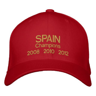 Spain Champions 2008 2010 2012 World And Euro Cups Embroidered Baseball Cap