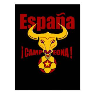 Spain Champions 2012 España Campeona Postcard