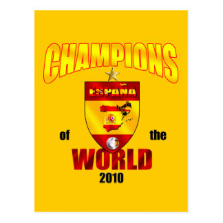 Spain Champions of the World 2010 Postcard