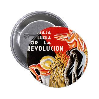 Spain civil war CNT-FAI original poster 1936 Button
