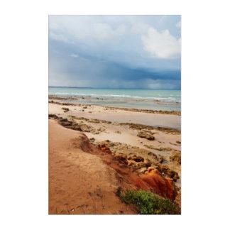 Spain coastline. storm acrylic print