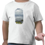 Spain Coastline with Yellow Flowers and Sun Beams T-shirt