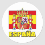 Spain Coat of Arms Classic Round Sticker