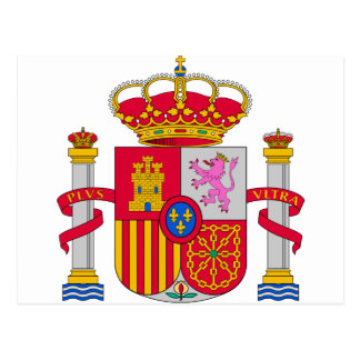 Spain Coat of Arms Postcard