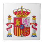 Spain Coat of Arms Small Square Tile