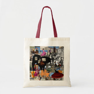 Spain collage Spanish culture gifts Canvas Bags