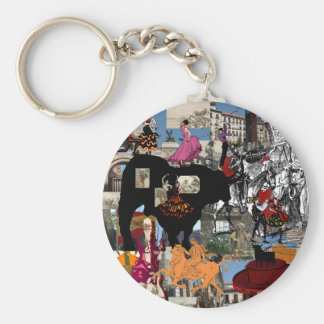 Spain collage Spanish culture gifts Keychain