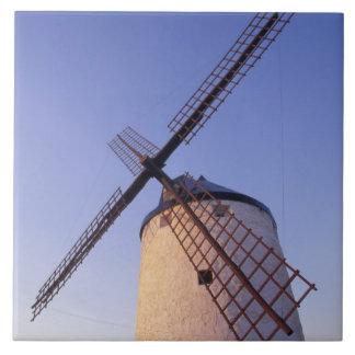 Spain, Consuegra, Castile-La Mancha Windmills 2 Ceramic Tile