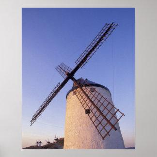 Spain, Consuegra, Castile-La Mancha Windmills 2 Print