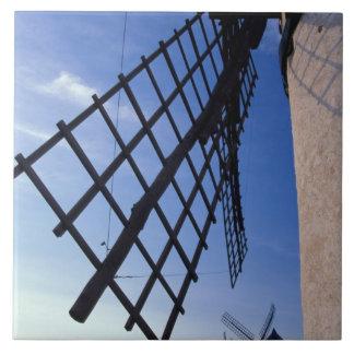 Spain, Consuegra, Castile-La Mancha Windmills Ceramic Tile