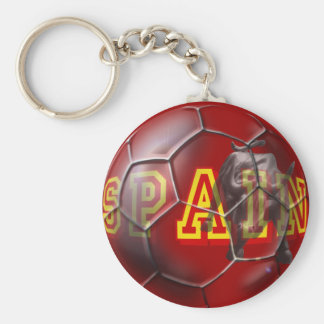 Spain contemporary soccer ball futbal fans gifts keychain