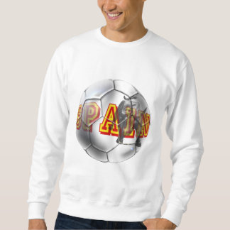 Spain contemporary soccer ball futbal fans gifts sweatshirt