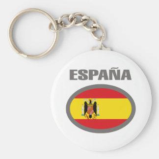 Spain Cool Flag Design! Keychain