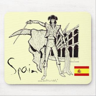 Spain corrida graphic art cool mousepad design