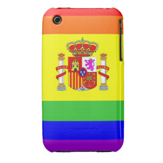 spain country gay proud rainbow flag homosexual iPhone 3 Case-Mate case