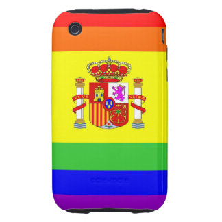 spain country gay proud rainbow flag homosexual tough iPhone 3 cover