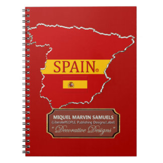Spain country outline Flag Colors Modern Notebook