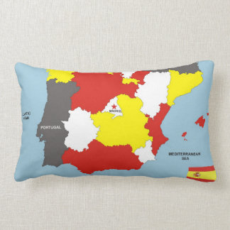 spain country political map flag throw pillow
