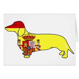 Spain Dachshund Greeting Card