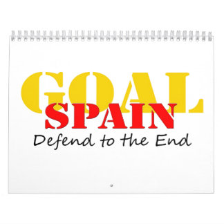 Spain - Defend to the End Wall Calendar