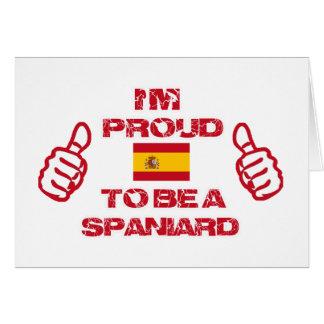 Spain design card