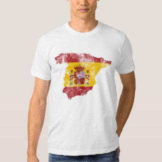Spain Distressed Flag T Shirt