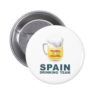 Spain Drinking Team Pinback Buttons