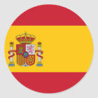 Spain ES Classic Round Sticker