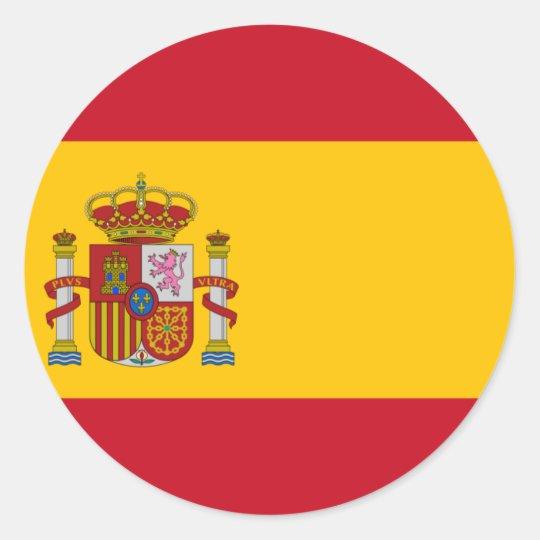 Spain ES Classic Round Sticker