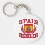 Spain Espana Basic Round Button Keychain