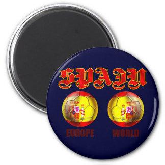 Spain Europe World Spanish flag soccer balls Magnet