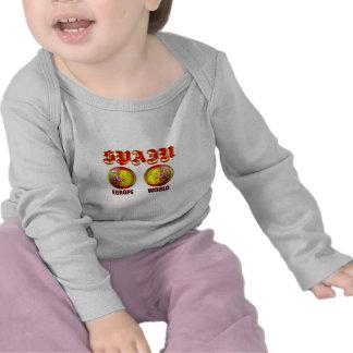 Spain Europe World Spanish flag soccer balls Shirt
