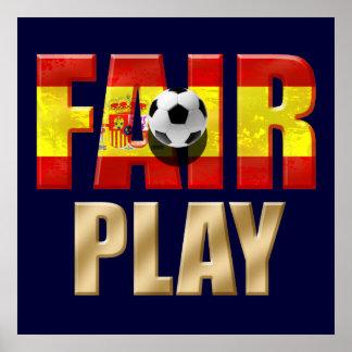 Spain Fair play & World Champion Award Winners Posters