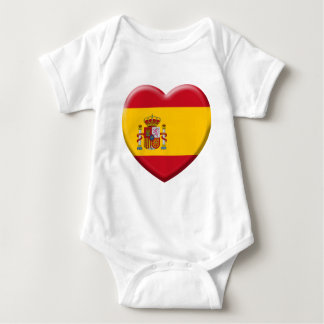 Spain flag baby bodysuit