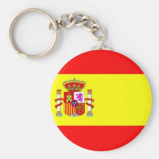 Spain flag basic round button keychain
