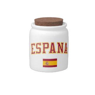 Spain + Flag Candy Jar