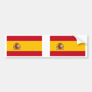 Spain Flag Car Bumper Sticker