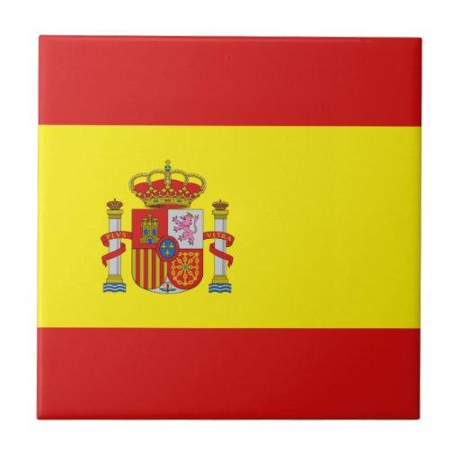 Spain Flag Ceramic Tile