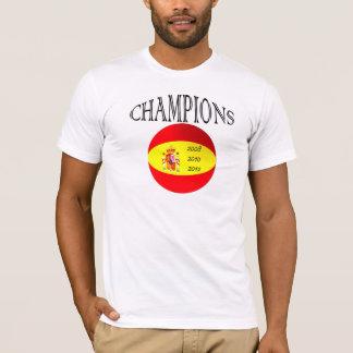 Spain flag champions football soccer tshirt