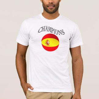 Spain flag champions football tshirt