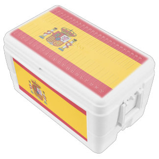 Spain flag chest cooler