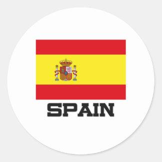 Spain Flag Classic Round Sticker