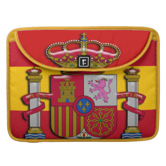 Spain Flag Coat of Arms 15 inch Sleeve For MacBooks